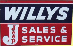 Willys Jeep Service Sign
