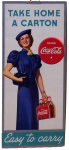 Coca Cola Easy to Carry Sign