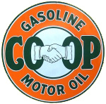 Coop Gasoline Sign