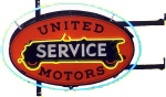 United Motors Service Neon Sign