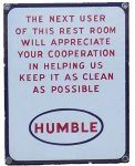 Humble Station Rest Room Sign
