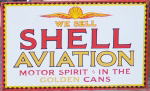 Shell Aviation Oil Sign
