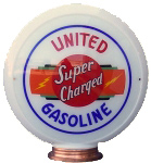 United Gasoline Super Charged Globe
