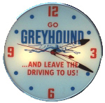 Greyhound Lines Clock