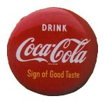 Coca-Cola Red Button Sign
