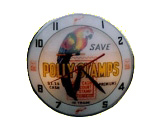 Polly Stamps Lighted Clock