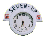 Seven-Up Advertising Clock