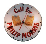 Phillip Morris Cigarette Clock