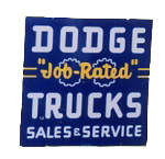 Dodge Job Rated Trucks Sign