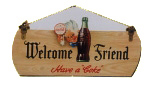 Coke Welcome Sign