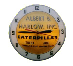 Caterpillar Lighted Clock