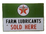 Texaco Farm Lubricants Sign