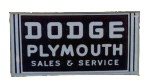 Dodge Plymouth Sign