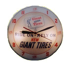 Giant Tires Lighted Clock