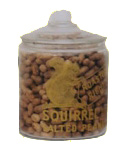Glass Squirrel Salted Peanut Jar