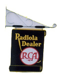 Radiola Dealer Hanging Sign