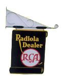 Radiola Dealer Hanging Sign