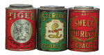 Sterling and Burley Tobacco Store Tins