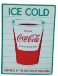 Ice Cold Coca Cola Cup Sign