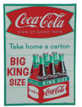 Coca-Cola King Size Carton Sign