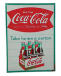 Take Home a Carton Coca-Cola Sign