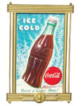 Coca-Cola Gold Framed Sign