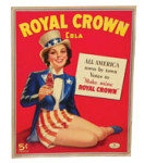 Royal Crown Cola Patriotic Sign