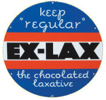 Ex-Lax Round Sign