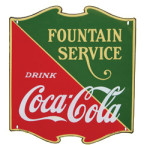 Coca-Cola and Fountain Service Sign