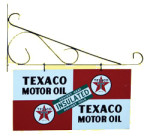 Texaco Motor Oil Sign and Bracket