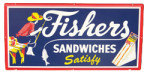 Fishers Sandwiches Satisfy Sign