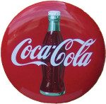 Coca-Cola Logo Button Sign