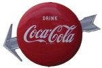 Coca-Cola Arrow Button Sign