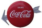 Coca-Cola Arrow Button Sign