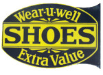 Wear-u-well Shoes Sign