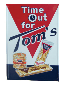 Tom S Snacks Sign Antique Advertising Value And Price Guide