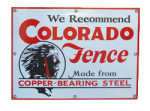 Colorado Fence Sign