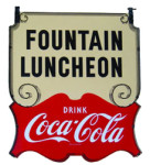 Fountain Luncheon Coca-Cola Sign