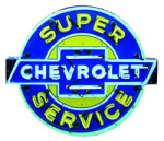 Neon Super Service Chevrolet Sign
