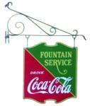Fountain Service Coca-Cola Sign