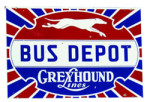 Greyhound Lines Bus Depot Sign