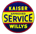 Kaiser Willys Approved Service Sign