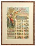 Allen & Ginter Birds of the Tropics Tobacco Sign