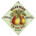 Vicar Pear Tobacco Sign