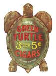 Green Turtle Cigar Hanging Sign
