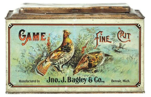 Fine Cut Tobacco Game Bird Fine Cut Tobacco Tin