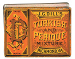 Dills Turkish and Perique Tobacco Tin