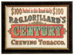 Century Tobacco Sign