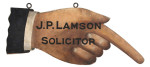 Solicitor Hand Trade Sign