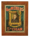 Geo W Childs Cigar Sign